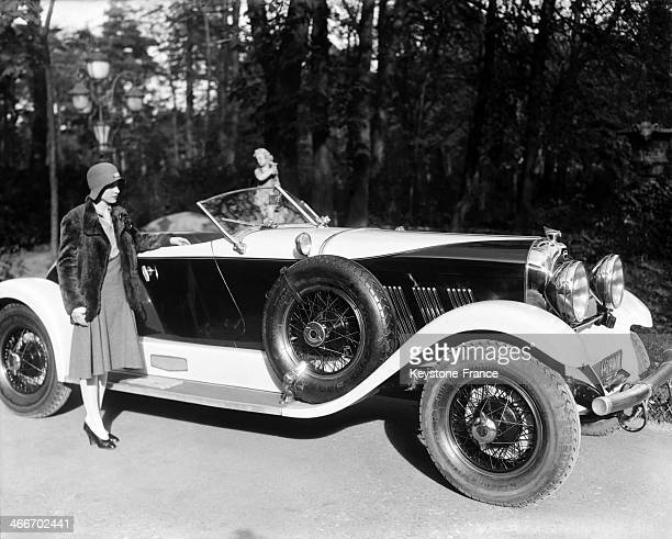 Chrysler car taken especially for New York Herald Advertisement circa 1920 in the United States
