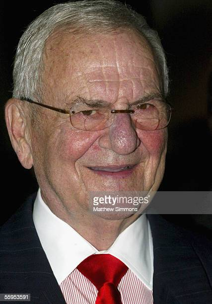Chrysler Chairman Lee Iacocca attends the unveiling of the new MercedesBenz Maybach 57S at Mercedes Benz of Beverly Hills on October 18 2005 in...