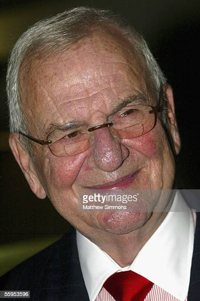 Chrysler Chairman Lee Iacocca attends the unveiling of the new Mercedes Benz Maybach 57S at Mercedes Benz of Beverly Hills on October 18 2005 in...
