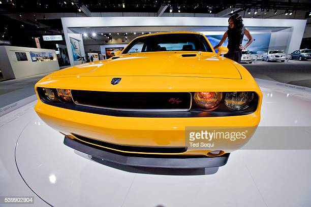 Chrysler Challenger RT Classic 2010 in Detonator yellow during the press preview day at the Los Angeles Auto Show held at the LA Convention Center