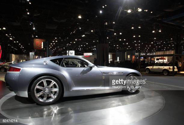 Chrysler Firepower sits on display during the 2005 New York Auto Show at the Jacob Javits Convention Center in New York 24 March 2005 The show will...