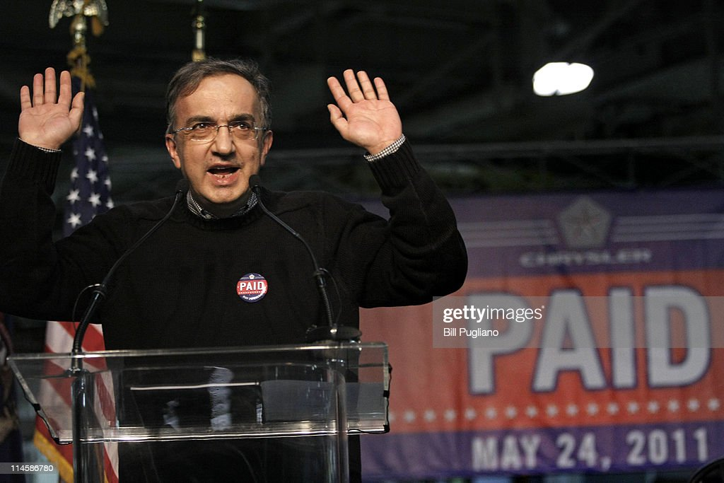 Chrysler CEO Sergio Marchionne Announces The Repayment Of Government Loan