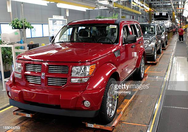 A Chrysler Group LLC Dodge Nitro sits on the production line at Chrysler's Toledo Assembly Complex in Toledo Ohio US on Wednesday Nov 16 2011...