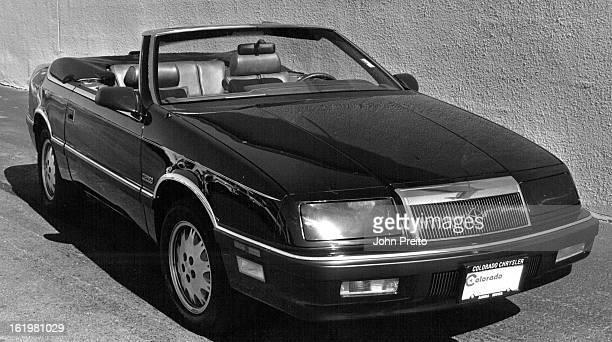 7/26/1987 871987 Chrysler La Baron