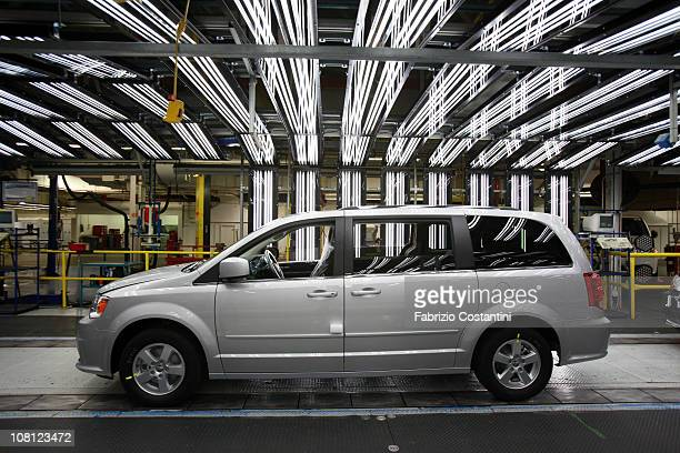 Chrysler Minivan on the assembly line at the Chrysler Windsor Assembly plant January 18 2011 in Windsor Ontario Canada Current CEO of Fiat SpA and...