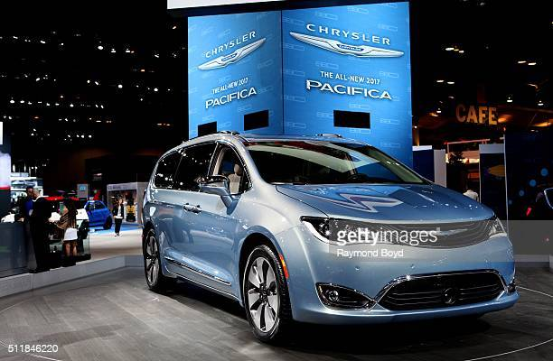 Chrysler Pacifica is on display at the 108th Annual Chicago Auto Show at McCormick Place in Chicago Illinois on February 11 2016
