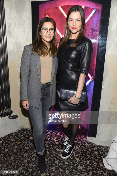 Chryssanthi Kavazi and Susan Hoecke during the Pantaflix Panta Party on February 19 2018 in Berlin Germany