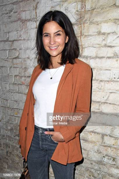Chryssanthi Kavazi attends the Pantaflix Pantaparty during 69th Berlinale International Film Festival at Alte Muenze on February 11, 2019 in Berlin,...
