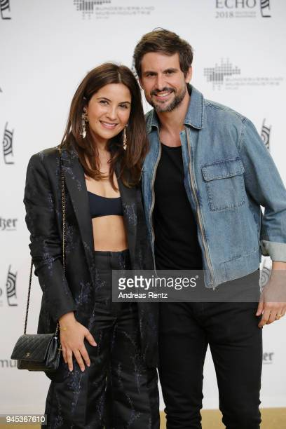Chryssanti Kavazi and Tom Beck arrive for the Echo Award at Messe Berlin on April 12 2018 in Berlin Germany