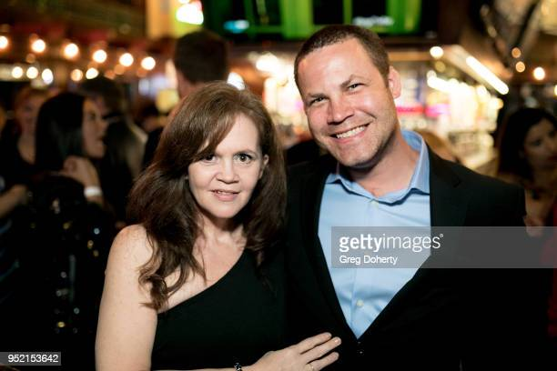 Chrystal Ayers and Jared Safier attend The Bay's PreEmmy Red Carpet Celebration at 33 Taps Hollywood on April 26 2018 in Los Angeles California