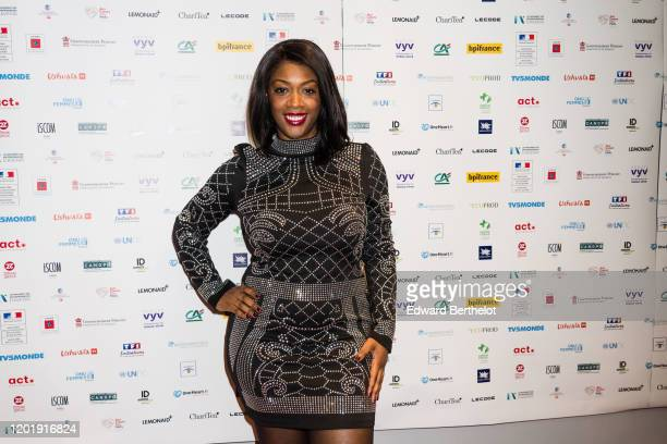 Chrystal Marcel attends the Le temps Presse Festival Closing Ceremony photocall At UGC LyonBastille In Paris on January 24 2020 in Paris France