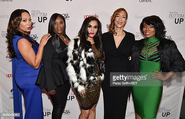 Chrystale Wilson Kim Smedley Sara Stokes Christine Beatty and Staci Jae Johnson attend From the Bottom Up presented by Centric at Ventanas on January...