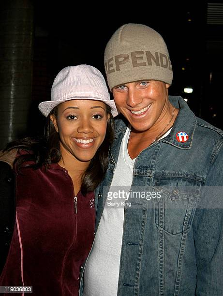 Chrystee Pharris and Greg Siff during Hollywood Knights Charity Basketball GameGlendale at Glendale High School in Glendale CA United States
