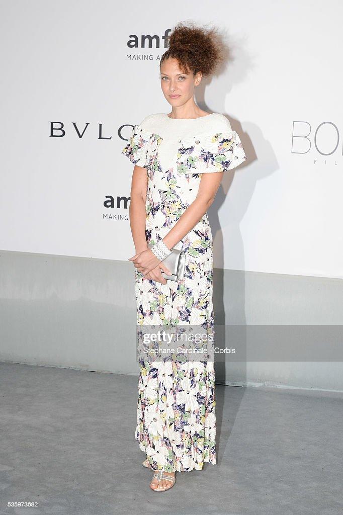Chrystele Saint Louis Augustin at the amfAR's 21st Cinema Against AIDS Gala at Hotel du Cap-Eden-Roc during the 67th Cannes Film Festival