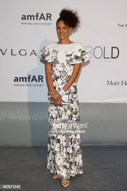 Chrystele Saint Louis Augustin attends amfAR's 21st Cinema Against AIDS Gala Presented By WORLDVIEW BOLD FILMS And BVLGARI at Hotel du CapEdenRoc on...