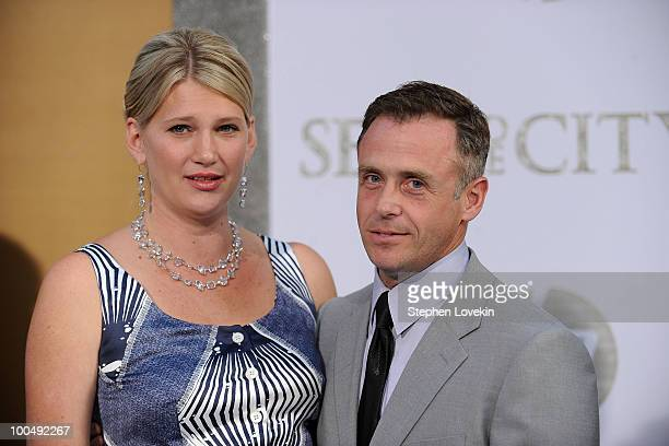 Chrysti Eigenberg and actor David Eigenberg attend the premiere of Sex and the City 2 at Radio City Music Hall on May 24 2010 in New York City