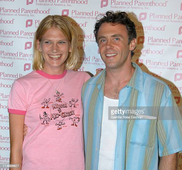 Chrysti Eigenberg and David Eigenberg during Stand Up For Choice Extravaganza August 30 2004 at The Beacon Theater in New York City New York United...