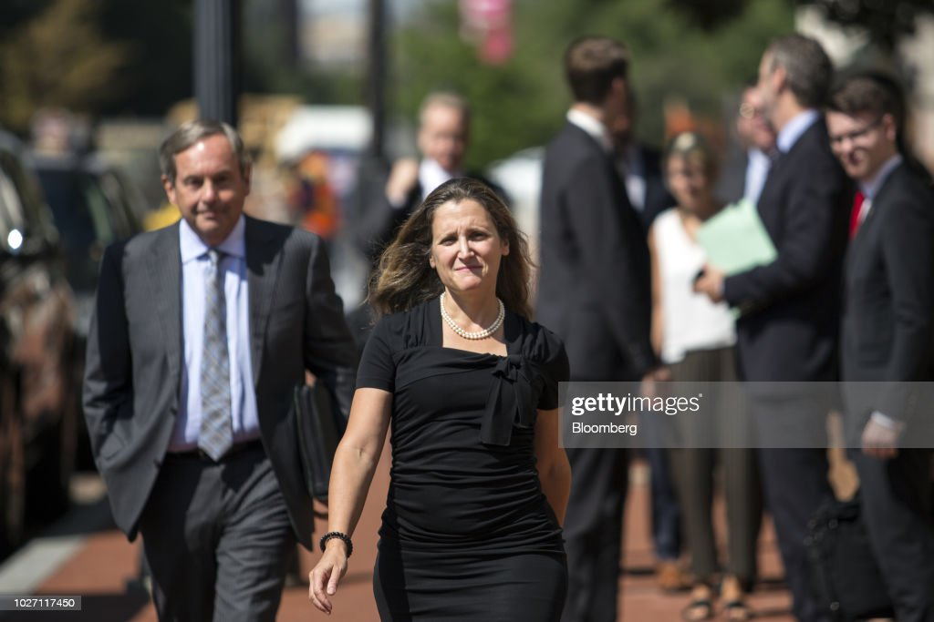 Canadas Foreign Affairs Minister Freeland Meets With Us Trade