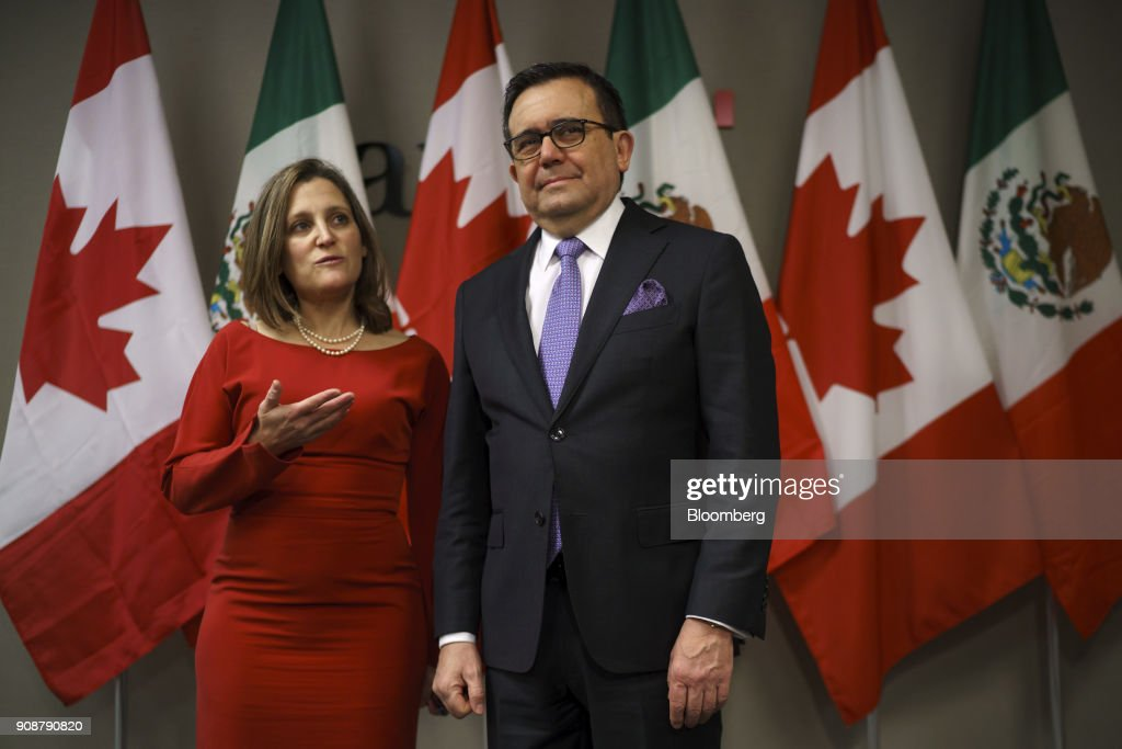 Foreign Affairs Minister Chrystia Freeland Holds Bilateral Meeting With  Mexico's Minister Of Economy Villarreal