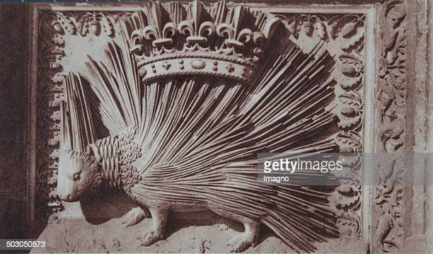 Château de Blois in the Loire Valley The winning porcupine on the wing of Louis XII About 1920 Photograph