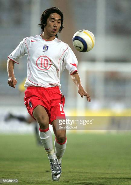 Chu Young Park of South Korea during the Group A 2006 World Cup Qualifying match between Kuwait and South Korea on June 8 2005 at the Peace and...