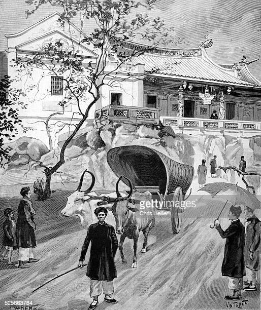 Chua Ba Thien Hau Pagoda and Buddhist Temple in the Cholon Chinatown District of Ho Chi Minh City Vietnam 1900