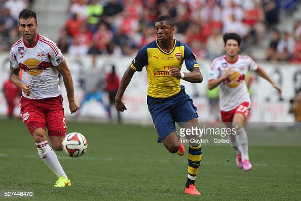 Chuba Akpom, Arsenal, In Action During The New York Red