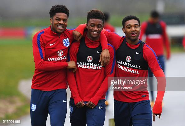 Chuba Akpom, Demarai Gray And Jordon Ibe Joke During An
