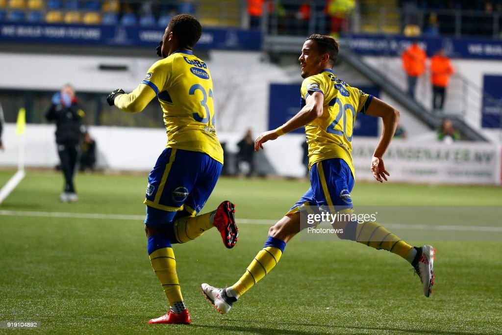 Chuba Akpom Forward Of STVV Scores And Celebrates Pictured