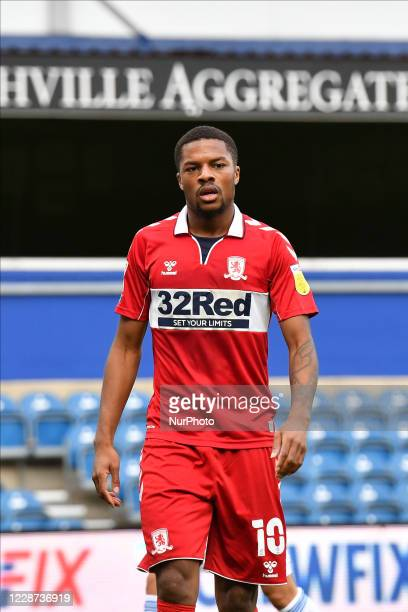 Chuba Akpom in action during the Sky Bet Championship match between Queens Park Rangers and Middlesbrough at The Kiyan Prince Foundation Stadium on...