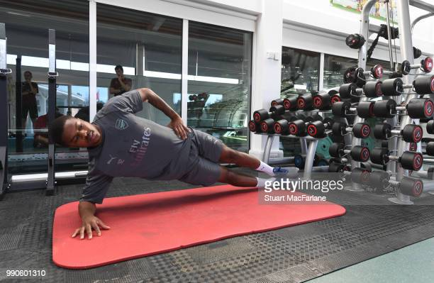 Chuba Akpom of Arsenal attends a medical screening session at London Colney on July 3 2018 in St Albans England