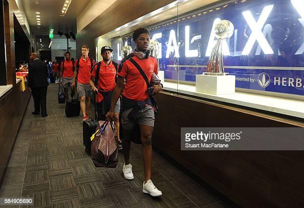 Chuba Akpom of Arsenal before the pre season friendly match between Arsenal and CD Guadalajara at StubHub Center on July 31 2016 in Carson California