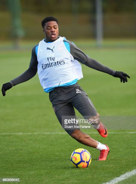 Chuba Akpom of Arsenal during a training session at London Colney on November 28 2017 in St Albans England