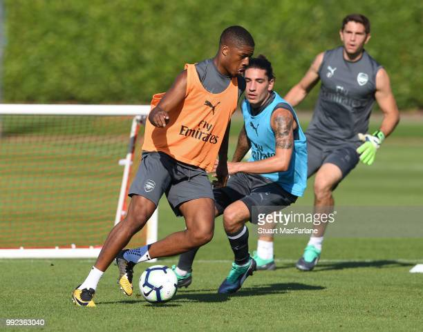 Chuba Akpom of Arsenal during a training session at London Colney on July 5 2018 in St Albans England