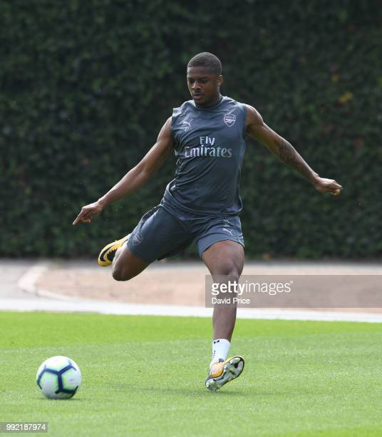 Chuba Akpom of Arsenal during Arsenal Training Session at London Colney on July 5 2018 in St Albans England