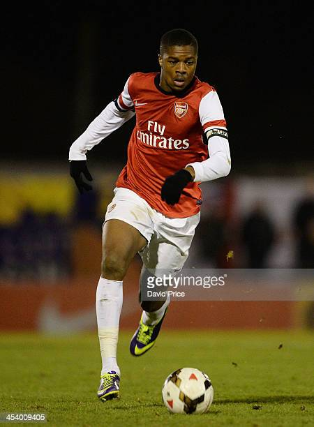 Chuba Akpom of Arsenal during the Arsenal U18 against Torquay United U18 FA Cup Youth Match at Meadow Park on December 6 2013 in Borehamwood England