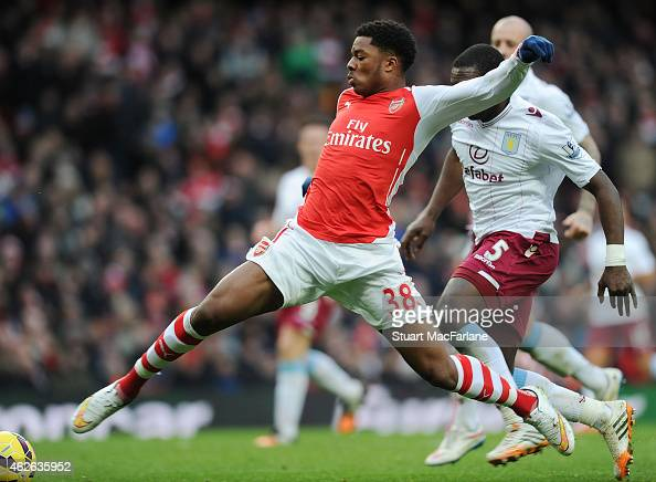 Chuba Akpom Of Arsenal During The Barclays Premier League