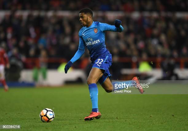 Chuba Akpom of Arsenal during the Emirates FA Cup 3rd Round match between Nottingham Forest and Arsenal at City Ground on January 7 2018 in...