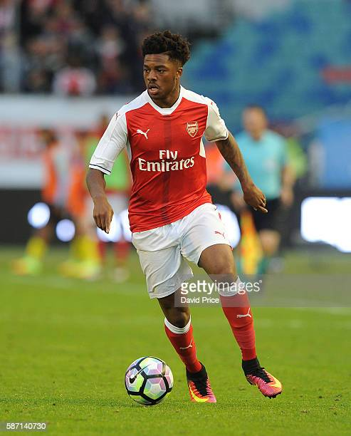 Chuba Akpom of Arsenal during the match between Arsenal and Manchester City at Ullevi on August 7 2016 in Gothenburg Sweden