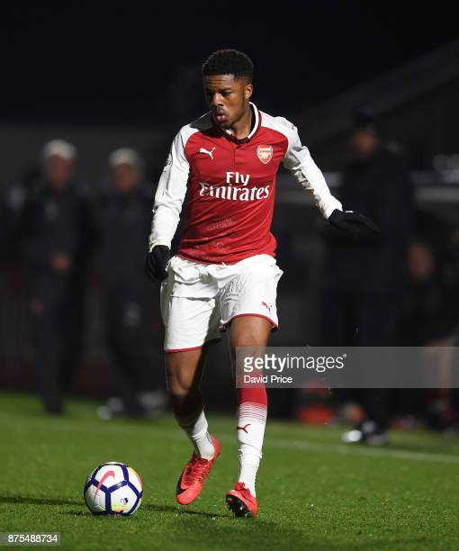 Chuba Akpom of Arsenal during the match between Arsenal U23 and Porto at Meadow Park on November 17 2017 in Borehamwood England