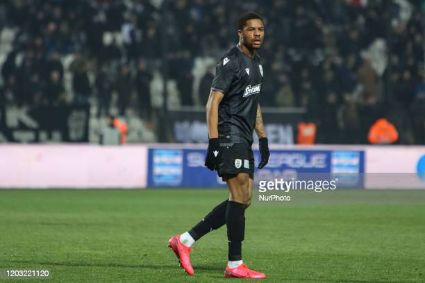 Chuba Amechi Akpom striker of PAOK FC during PAOK Thessaloniki v OFI Crete FC with final score 4-0 for Super League 1 Greece at Toumba Stadium home...