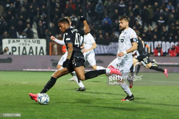 Chuba Amechi Akpom striker of PAOK FC in action during PAOK Thessaloniki v OFI Crete FC with final score 40 for Super League 1 Greece at Toumba...