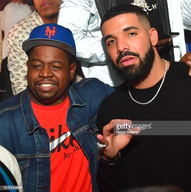 Chubbie Baby and Drake attend Future's 'Future City' Birthday Party at Magic City on November 20 2018 in Atlanta Georgia