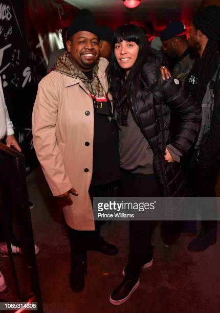Chubbie Baby and Jennifer Goicoechea attend Motel 21 I Am > I Was Private Listening Experience on December 21 2018 in Atlanta Georgia