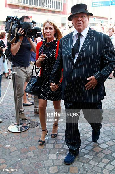 Chubby Brown attends Bernie Nolan's funeral at Grand Theatre on July 17 2013 in Blackpool England