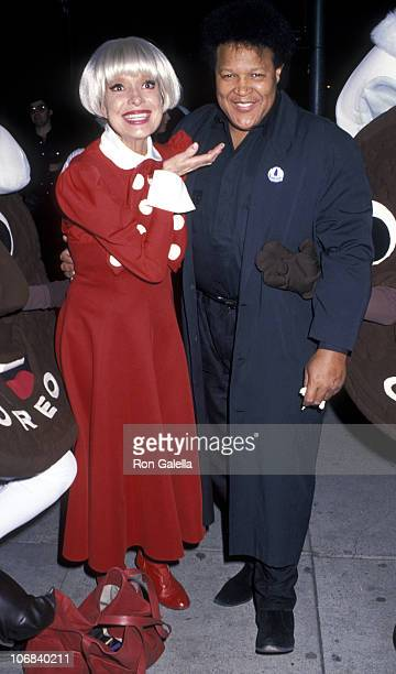 Chubby Checker and Carol Channing during 30th Anniversary Celebration of The Twist and Oreo Cookie Twist Finals December 9 1990 at China Club in...