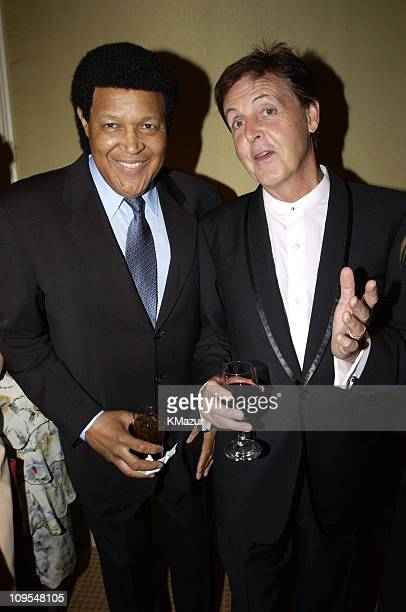 Chubby Checker and Sir Paul McCartney during Paul McCartney and Heather Mills McCartney Host the 2nd Annual AdoptAMinefield Benefit 'Open Hearts...
