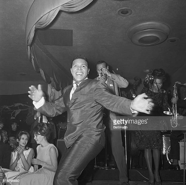Chubby Checker does the Twist at the Crescendo a night club on the Sunset Strip
