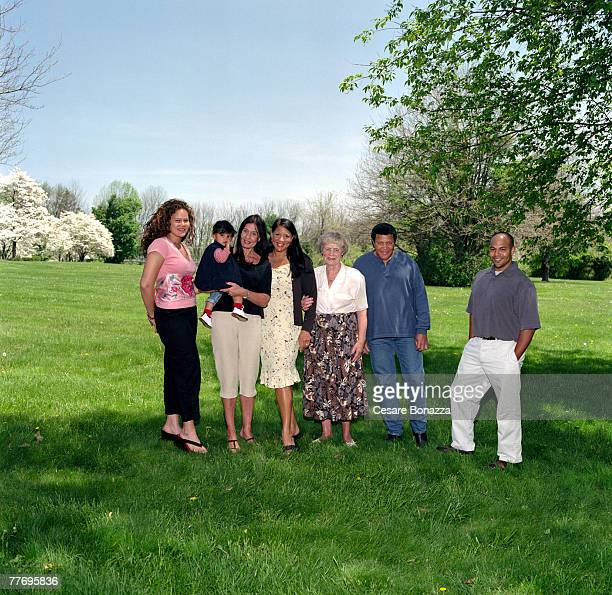 Chubby Checker's daughter Ilka Evans wife Catharina Lodders Evans daughter Bianca Evans and Grandma Tiny Lodders Private home in Philladelphia Chubby...