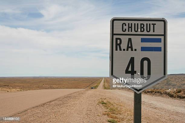 Chubut road sign from 'Ruta 40'.